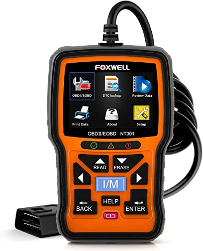 discount FOXWELL sale NT301 OBD2 Scanner outlet online sale Professional Mechanic OBDII Diagnostic Code Reader Tool for Check Engine Light outlet sale