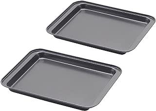 Baking Sheet Set of 2, SS&CC Profession 8 Inch Nonstick Sheet Pan Set, Dishwasher Safe, Organic Environmental Friendly Premium Coating, Carbon Steel Half Toaster Oven Pan Tray Replacement