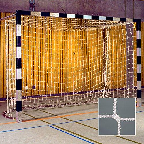 Donet Handballtornetz/Kleinfeld 3,1 x 2,1 m Tiefe oben 0,80/unten 1,00 m, PP 4 mm ø, weiß