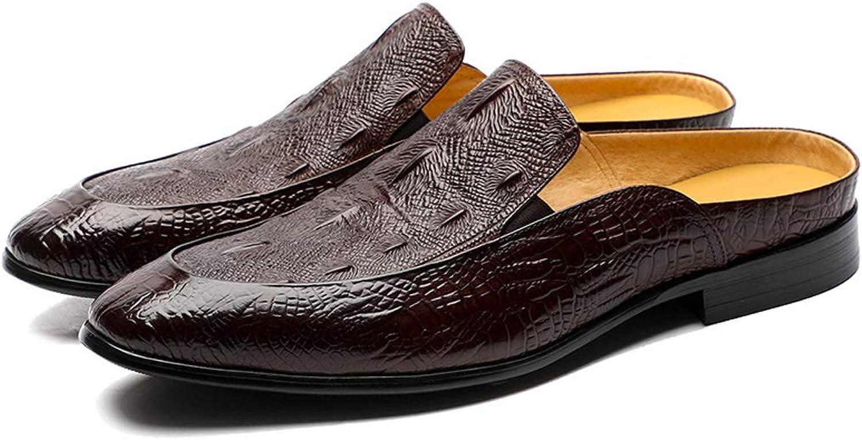 Leather Bag Slippers, Men's shoes, Fashion, Half Slippers, Summer Men's shoes flip Flop