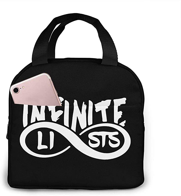 Infinite Lists Portable Lunch Bag Insulated Lunch Box Camping Bag For Work School Travel