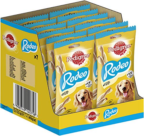 Pedigree Hundesnacks Rodeo Sticks mit Huhn, 84 Stück (12 x 7 Stück)