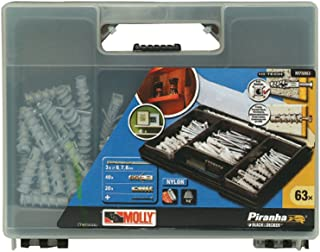 Molly Solid Fixing Kit with Screws, 63-Piece