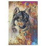 interestprint abstracto pintura lobo poliéster casa jardín bandera Banner 12x 18inch,...
