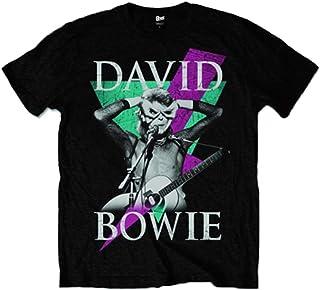 David Bowie デビッド・ボウイ Tシャツ Aladdin Sane Thunder アラジン・セイン・サンダー 公式 メンズ ブラック 全サイズ