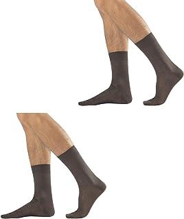 2 pares de calcetines cortos para hombre de hilo de Escocia rasado
