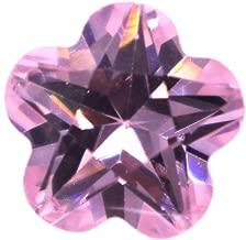 Alone Moon Automatic machine cutting resplendent grade cubic zirconia flower cut loose Gemstones 100pcs (4x4mm, Pink)