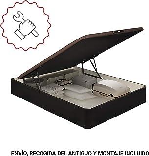 PIKOLIN canapé abatible Gran Capacidad de almacenaje Color wengué 150x190 Servicio de Entrega Premium Incluido