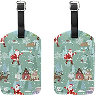 MASSIKOA Christmas Cruise Luggage Tags Suitcase Labels Bag,2 Pack