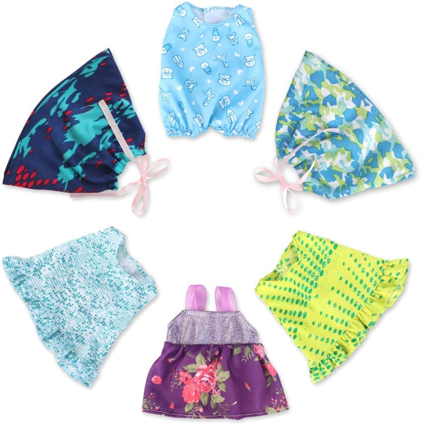 WakaoFeeling Quantity limited 6 Pack Max 42% OFF Baby Doll for 9-10-12 Little Clothes Outfits