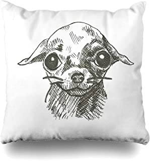 Ahawoso Decorative Throw Pillow Cover Square 16x16 Digital Campus Scales Paris Office Plaid Chihuahua Dachshund Rustic Wiener 1900 Birthday White Scale Cushion Case Home Decor Zippered Pillowcase