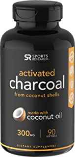 Coconut Activated Charcoal infused with Organic Coconut Oil | Fast detoxing for better digestion | Non-GMO & Gluten Free (90 mess-free softgels)
