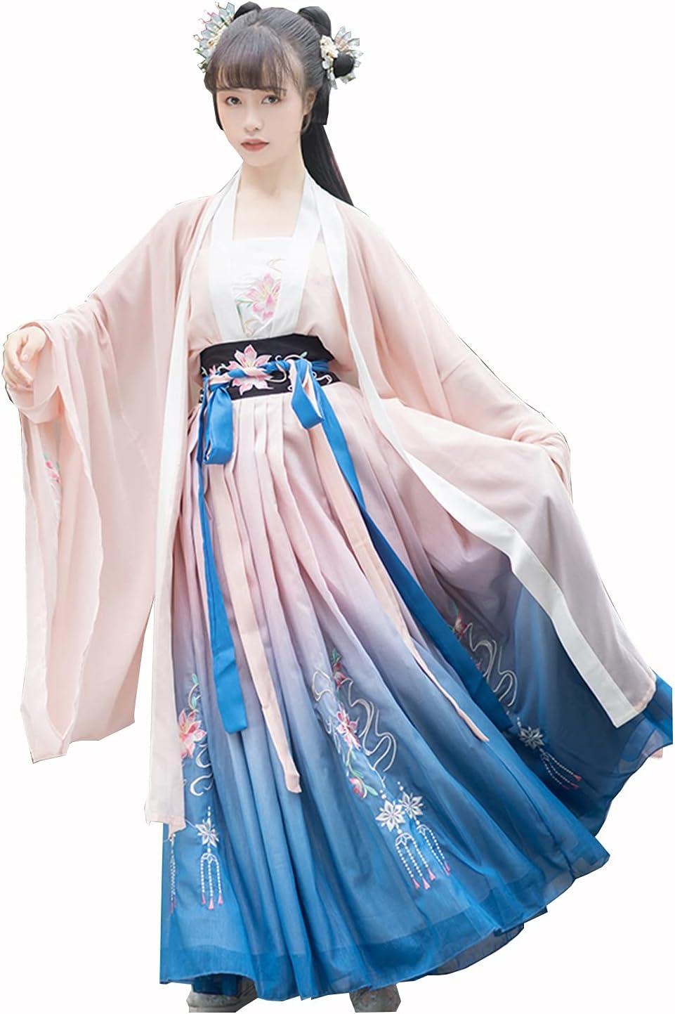 YANLINA Hanfu Women's Traditional St Complete Free Shipping San Antonio Mall Ancient Skirt Chinese