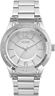 Relógio Euro Feminino Recortes EU2035YMR/3K - Prata