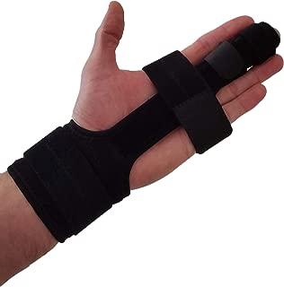 Trigger Finger Splint Finger Brace – Comfortable Finger Splints for Broken Fingers. Adjustable Aluminium Finger Straighter for Bent Mallet or Arthritic Finger Joints. Fits All Fingers (Large)