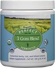 Perfect Supplements 3 Grass Blend - USDA Organic Barley, Oat & Wheat Grass Powder - Gluten Free - 180g Powder
