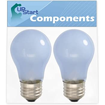 Compatible with Frigidaire 241555401 Light Bulb 2-Pack 241555401 Refrigerator Light Bulb Replacement for Frigidaire FRS6R5ESB7 Refrigerator