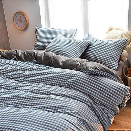 sacco copripiumino matrimoniale 250x200-Lenzuolo spesso a quattro pezzi in velluto di latte invernale bifacciale più copripiumino in velluto leopardato federa in flanella regalo biancheria da letto-S