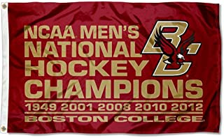 College Flags and Banners Co. BC Eagles 5-Time National Hockey Champions Flag