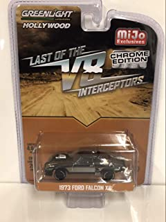 1973 Ford Falcon XB Chrome Black Edition The Last of The V8 Interceptors (1979) Movie Limited Edition to 4,600 Pieces Worldwide 1/64 Diecast Model Car by Greenlight 51229