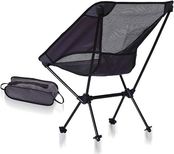 LTKKK Chaise d'alpinisme, Chaise Pliante d'extérieur Moon Chair Ultra-légère, Chaise de pêche en Aluminium portable, Chaise de Loisirs, Chaise de Camping