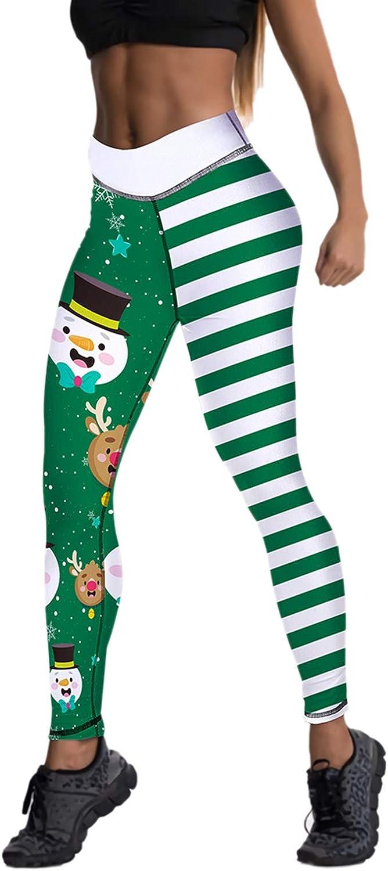 Women's Christmas Pants Leggings, Stay Up Tights & Leggings Pants, Over The Knee tights Stockings leggings For Women