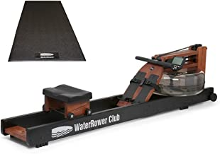 Water Rower Club S4 Rowing Machine Bundle with WaterRower Mat