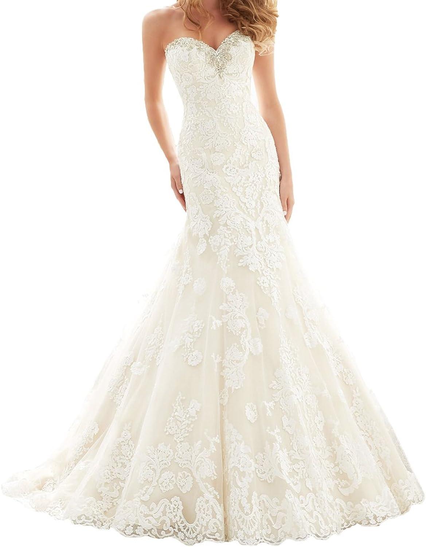 Alexzendra Women's Mermaid Wedding Dress For Bride 2017  Bride Dresses Beads