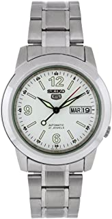 Seiko Men's SNKE57 Stainless Steel Analog with White Dial Watch