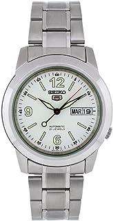 Seiko Men's SNKE57 Stainless Steel Analog with White Dial Watch