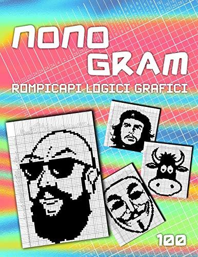 Nonogram Enigmistica: Rompicapi logici grafici | 100 giochi di pixel art | Hanjie Picross Puzzle | Griglie logiche VOL 2
