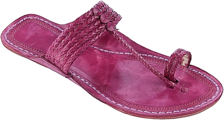 KOLHAPURI CHAPPAL Original Handsome Purple Five Braids Kolhapuri Men Chappal Slipper Sandal