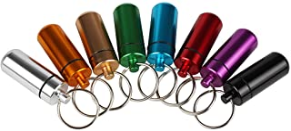 Andux Land 6PCs impermeabilizan la caja de aluminio hermética de la píldora de la caja del sostenedor de la medicina de la botella de la cápsula HWYH-01