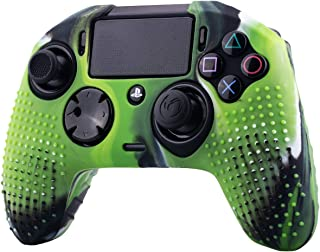 YoRHa Studded Dots Silicone Rubber Gel Customizing Cover for NACON Revolution PRO PS4 controller [Origin & V2] x 1(Camouflage Green)