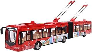 Kids Toy Bus,Electronic City Bus Music Light Car Educational Toy for Children Kids Inertia Traffic Model