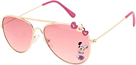 Disney Minnie UV Protected Pink Colour Aviator Girl's Sunglasses (For Age Group 3-11 Yrs)