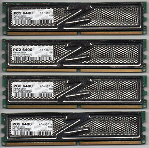 OCZ Platinum DDR2 PC2-6400 Arbeitsspeicher 4GB Kit (4X 1GB, 800MHz, CL4)