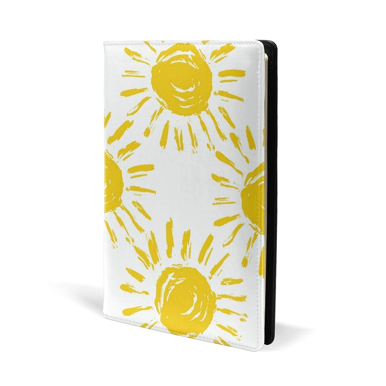 くそー防腐剤月面ブックカバー a5 太陽 かわいい 手絵 文庫 PUレザー ファイル オフィス用品 読書 文庫判 資料 日記 収納入れ 高級感 耐久性 雑貨 プレゼント 機能性 耐久性 軽量