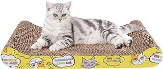 猫 つめとぎ Blueekin 猫用爪とぎ ダンボール バリバリベッド 高密度 耐久 省スペース 家具破壊防止 運動不足改善 寂しさ解消 両面使用可能 猫 おもちゃ 猫用品 (ベッド型)