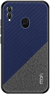 For Huawei Honor 8X Max MOFI Honor Series Bi-color Splicing Woven Texture case cover - Blue.