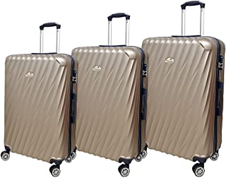 New Travel Luggage Trolley Bags Set, 3 Pcs With 4 Wheels - Champagne