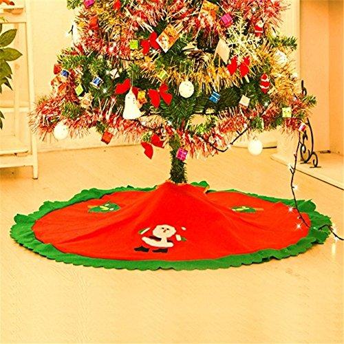 MFCreative 90cm rot Weihnachtsbaum Rock Weihnachten Weihnachtsmann Baum Rock Weihnachtsdekoration Lieferungen Ornament Christbaumständerhüllen