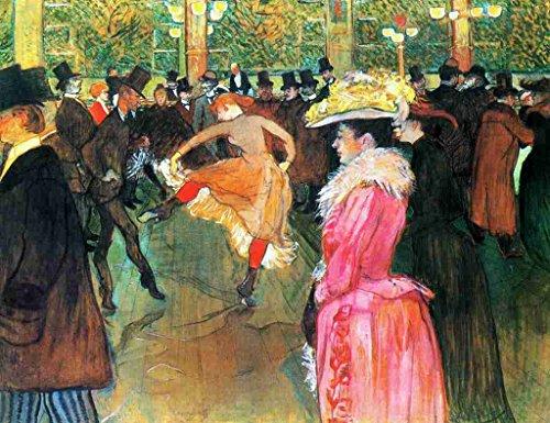 A4 foto Toulouse Lautrec, Op de Moulin Rouge, De Dans 1890 Poster