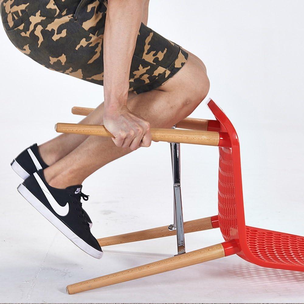 HURONG168 Chaises de cuisine Chaise chaise creuse/chaise de salle à manger café chaise longue/chaise de négociation chaise de café siège lounge (Couleur : Bleu) Rouge