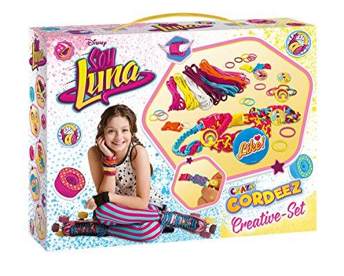 CRAZE 56319 CORDEEZ Kreativ Set Disney Soy Luna Kinder Armbänder zum Knüpfen und Flechten, tolle Farbkombinationen, XL