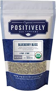 Positively Tea Company, Organic Blueberry Bliss Green Rooibos Tea, Loose Leaf, 4 Ounce Bag