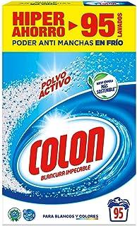 comprar comparacion Colon Polvo Activo - Detergente para lavadora, adecuado para ropa blanca y de color, formato polvo - 95 dosis, 5.890 kg