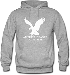 American Eagle Outfitters White Logo Printed For Mens Hoodies