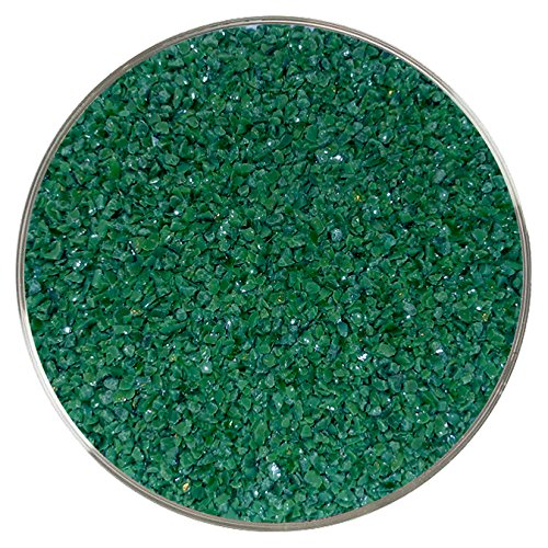 Dark Green Opalescent Medium Frit - 96COE - 8oz - Made from System 96 Glass