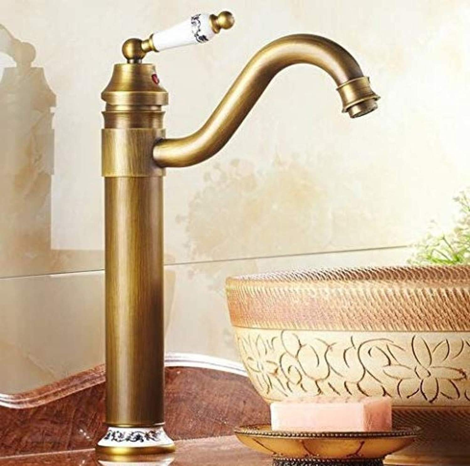 Kitchen Brass Retroretro Deluxe Faucetinging Basin Faucet Single Handle gold Faucet Bathroom Toilet Basin Tap